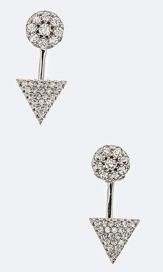 Triangle Earrings with 3/4 Inch Drop