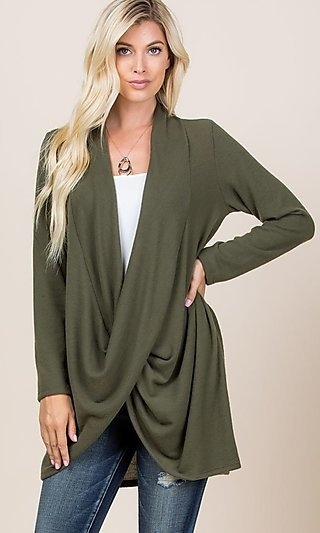 Pullover Long Sleeve Cardigan Sweater