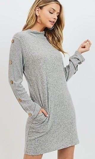 Soft Sweater Dress with Long Sleeves