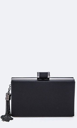 Rectangular Clutch Purse with Tassel