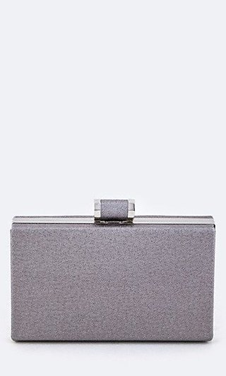 Box Clutch with Chain Strap