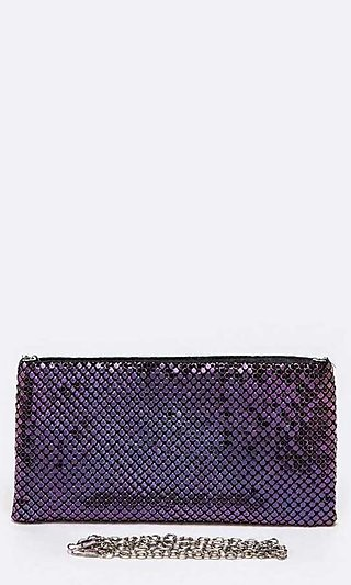 Metallic Clutch with Shoulder Chain