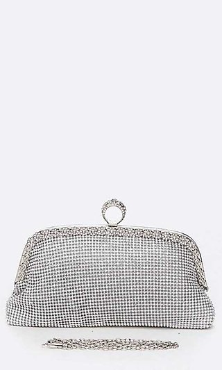 Mesh Soft Ring Clutch Purse