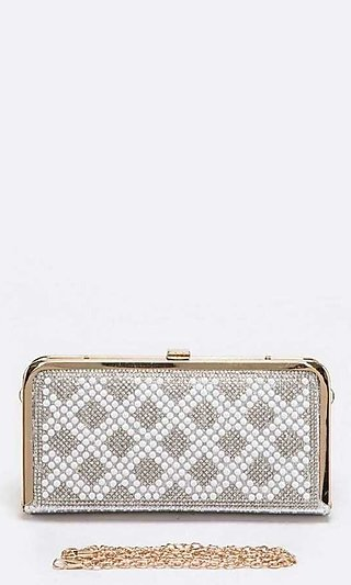 Pearl Box Clutch Purse