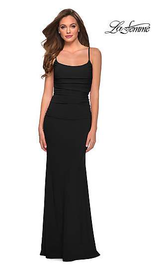 Simple & Classic Long Jersey Prom Dress 29358