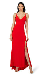 Image of Jump simple long formal prom dress. Style: JU-21-11001 Front Image