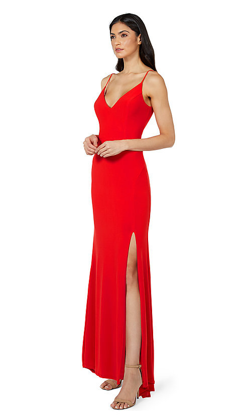 Image of Jump simple long formal prom dress. Style: JU-21-11001 Detail Image 1