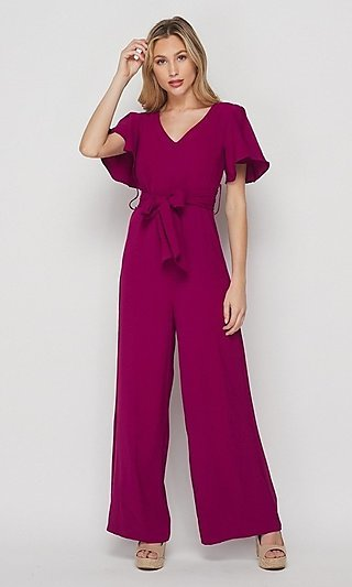 Short Sleeve Loose-Fit Women's Casual Jumpsuit