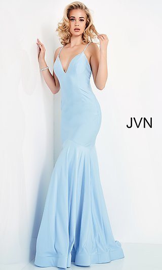 Sleek Long Mermaid JVN by Jovani Prom Dress