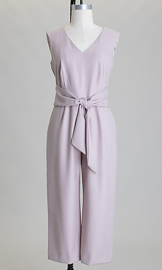 Sleeveless Tied-Waist Cropped Casual Jumpsuit