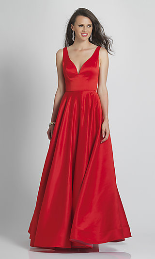 Classic Simple Red Ball Gown for Prom