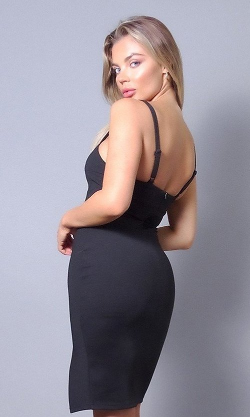 Image of sweetheart short tight wedding-guest party dress. Style: LAS-CEF-21-ID8414 Back Image