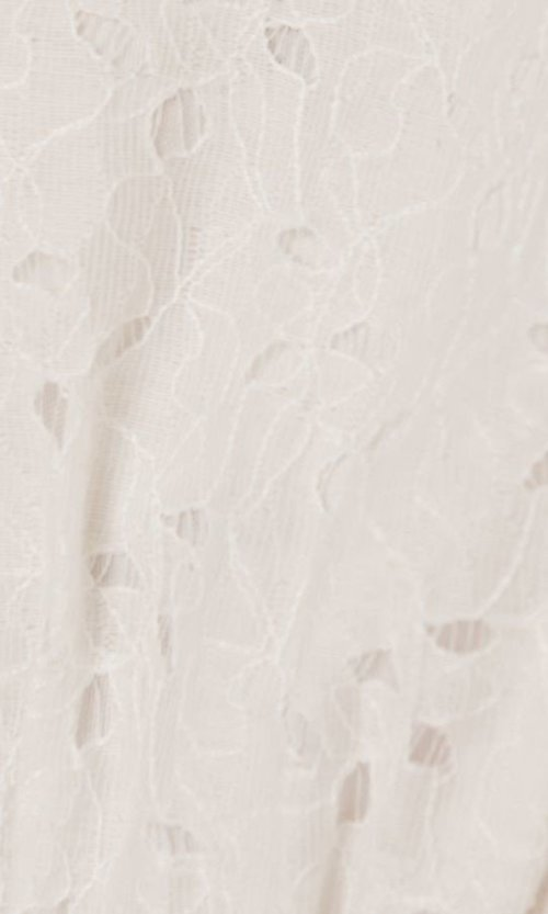 Image of ruffled-sleeve short off-white grad party dress. Style: FG-FT-21-AD2015 Detail Image 4