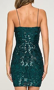 Image of short homecoming party dress with sequins. Style: LAS-LOV-21-OD3420B Back Image