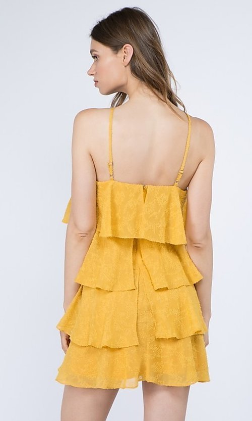 Image of short casual summer dress with tiers. Style: FG-FNC-21-EKD2247Y Detail Image 6