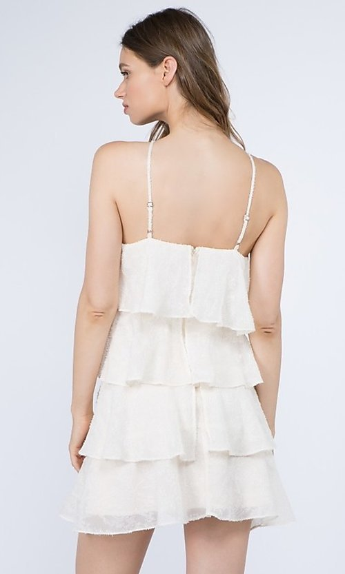 Image of short casual summer dress with tiers. Style: FG-FNC-21-EKD2247Y Back Image