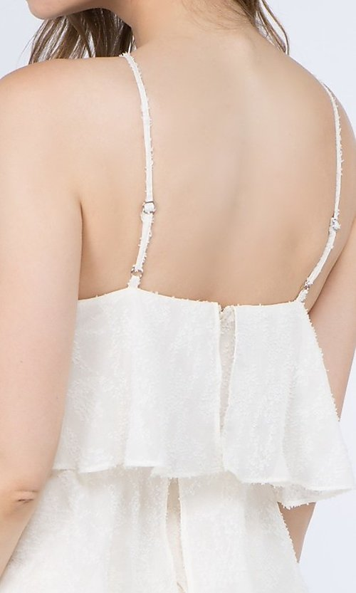 Image of short casual summer dress with tiers. Style: FG-FNC-21-EKD2247Y Detail Image 4
