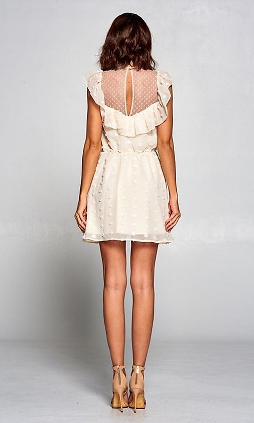 Image of short vintage-style ruffled casual party dress. Style: FG-ST-21-D-2059-H-C Detail Image 6