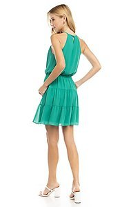 Image of casual short high-neck summer dress. Style: FG-NZB-21-SD115622 Detail Image 2