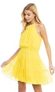 Image of casual short high-neck summer dress. Style: FG-NZB-21-SD115622 Front Image