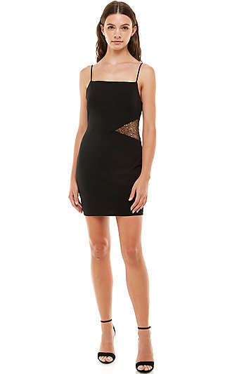 Black Fitted Homecoming Dress by Jump