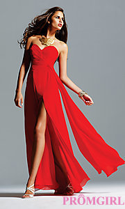 Image of celebrity-inspired prom dress by Faviana Style: FA-6428 Front Image