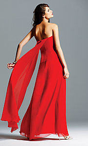 Image of celebrity-inspired prom dress by Faviana Style: FA-6428 Back Image