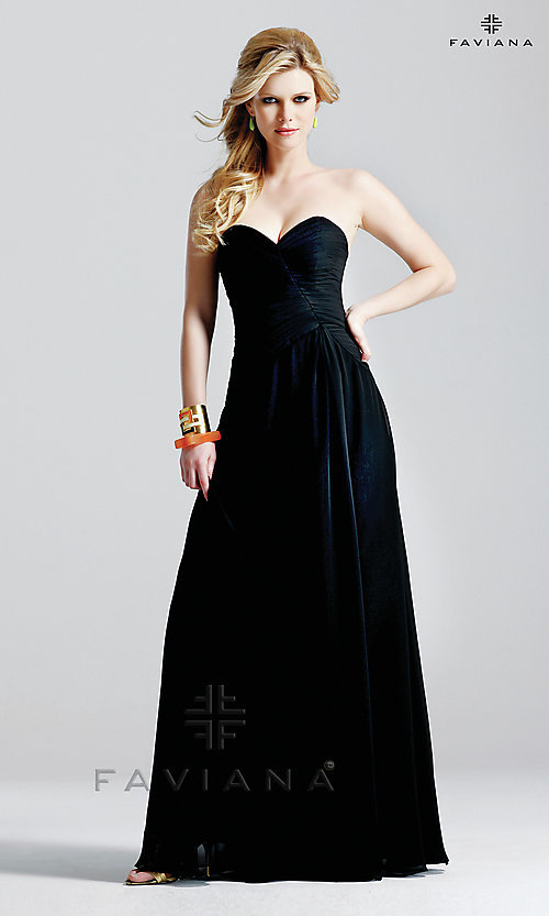 Image of celebrity-inspired prom dress by Faviana Style: FA-6428 Detail Image 2