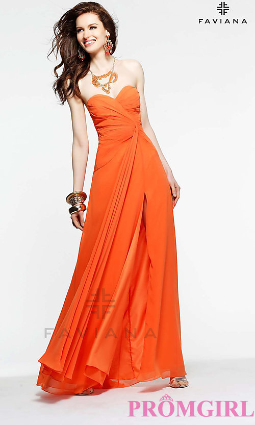 Image of celebrity-inspired prom dress by Faviana Style: FA-6428 Detail Image 3