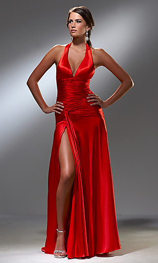 Long Halter-Top Dress for Prom by Blush S008