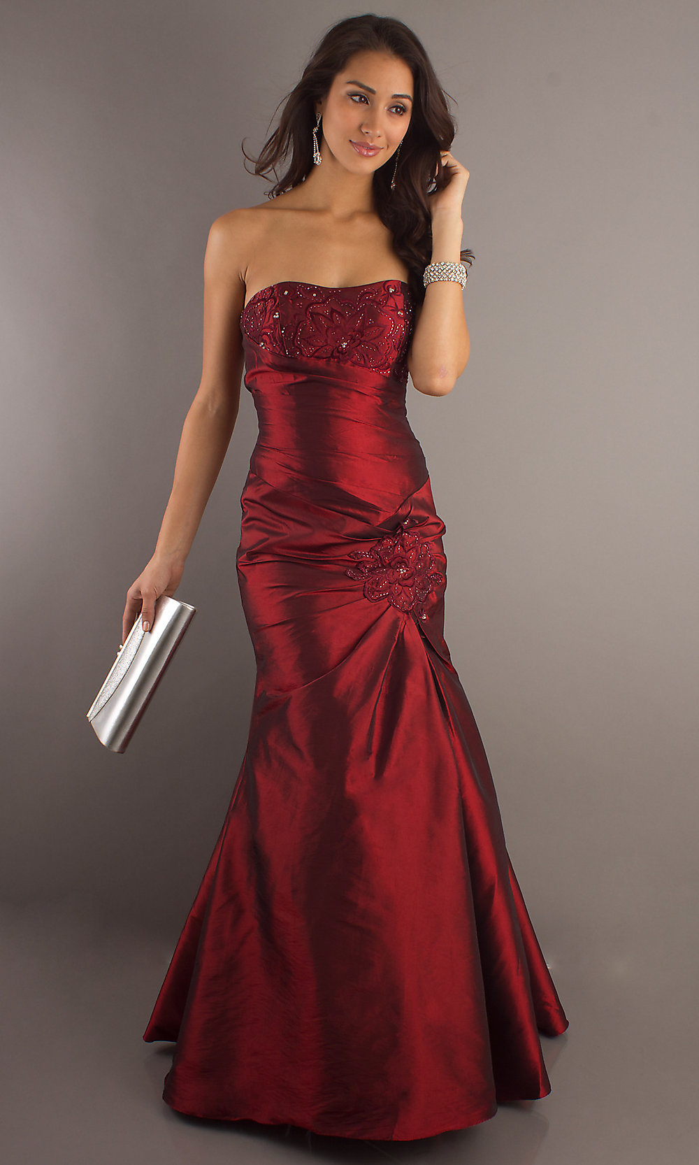 Wedding Burgundy Prom Dress burgundy formal gown strapless prom dresses promgirl hover to zoom