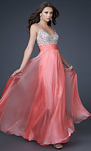 Gorgeous Floor-Length La Femme Prom Dress