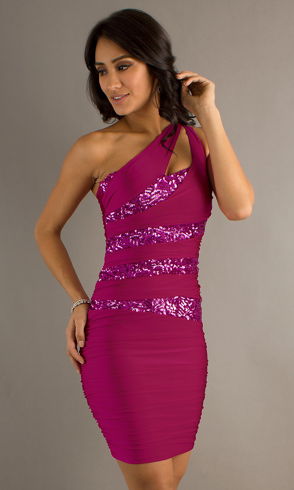 Atria Sexy One Shoulder Homecoming Dresses Promgirl