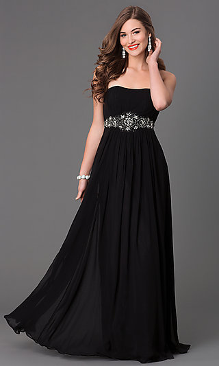 Classic Long Strapless Dress Strapless Evening Gowns