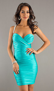 Short Prom Dress Style: AT-7085 Front Image