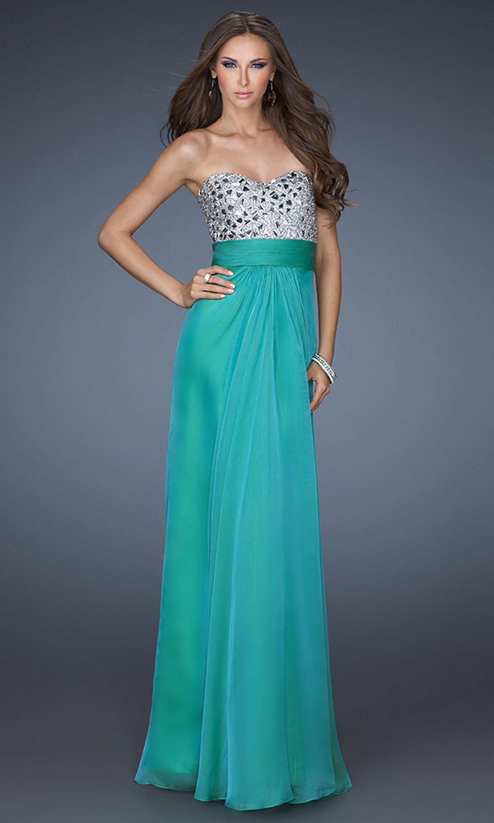 La Femme 23920 - Sweetheart Strapless Long Ball Gown Prom