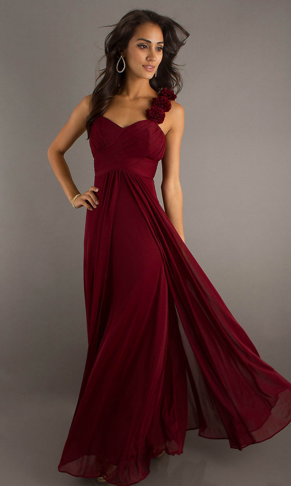 Sleeveless Full-Length Sweetheart Dress - PromGirl