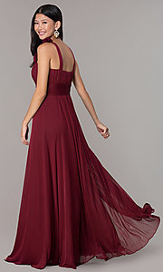 Image of sleeveless full-length formal sweetheart dress. Style: DQ-8115 Detail Image 4