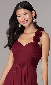 Image of sleeveless full-length formal sweetheart dress. Style: DQ-8115 Detail Image 5