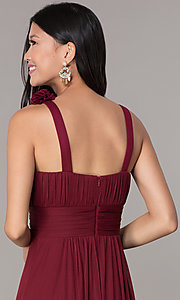 Image of sleeveless full-length formal sweetheart dress. Style: DQ-8115 Detail Image 6
