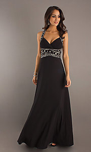 Floor Length Dress with Open Back