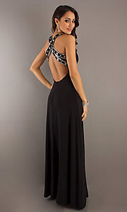 Long Prom Dress Style: DQ-8154 Back Image