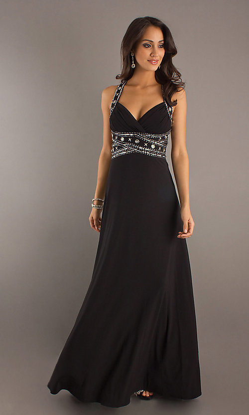 Long Prom Dress Style: DQ-8154 Front Image
