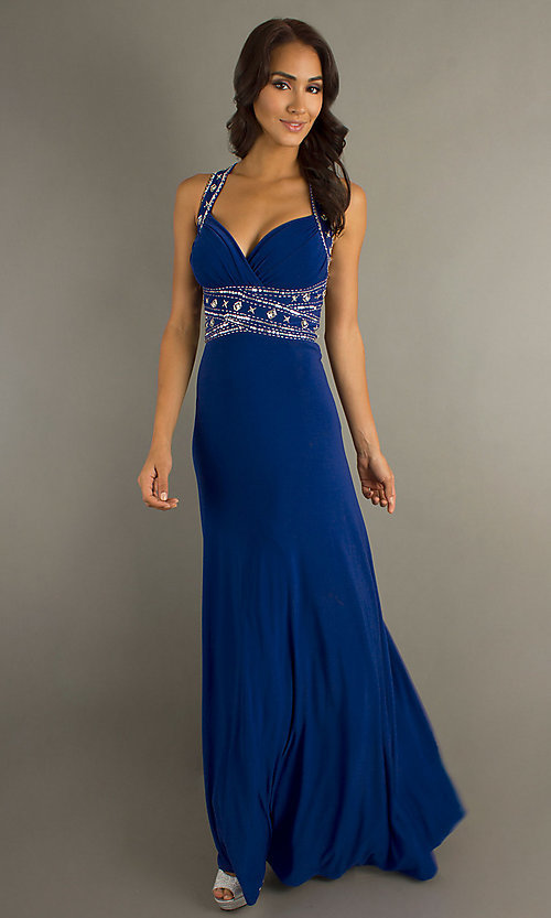 Long Prom Dress Style: DQ-8154 Detail Image 3