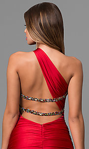 Image of long Atria one-shoulder mermaid dress.  Style: AT-AC2054 Detail Image 1