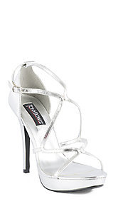 Silver Cassie Heel by Tony Bowls