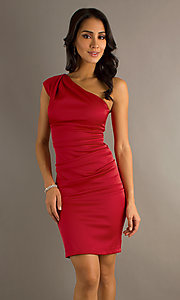 Short One-Shoulder Dress by Sally Fashions