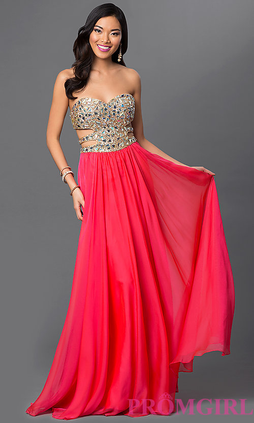 Long Prom Dress Style: LF-18602 Front Image