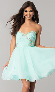 Strapless Party Dress by Mori Lee 9212