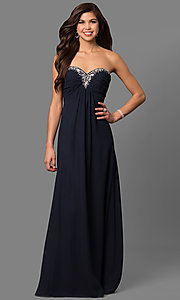 Long Strapless Prom Gown by Alyce Paris